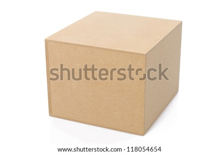 Wood Box with white background - stock photo