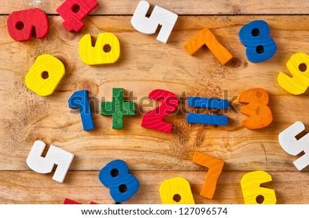 wood building blocks - stock photo