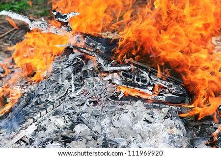 wood burning - stock photo