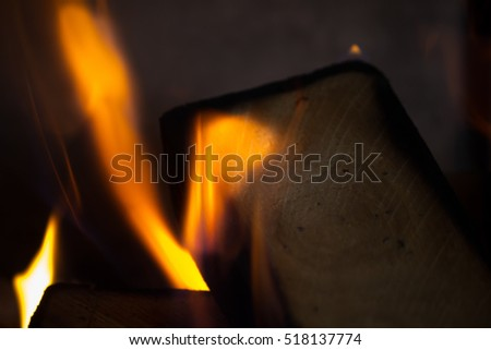 Wood burning fireplace