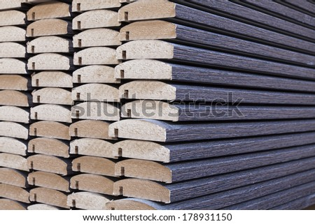wood business storage warehouse store close up - stock photo