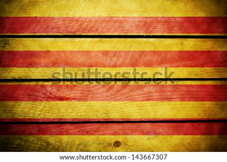Wood catalonia flag
