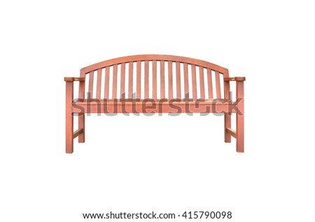 wood chair for relax on white background - stock photo