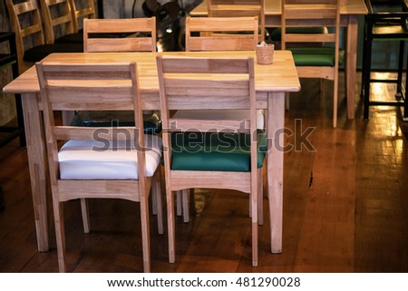 Wood Chair In House