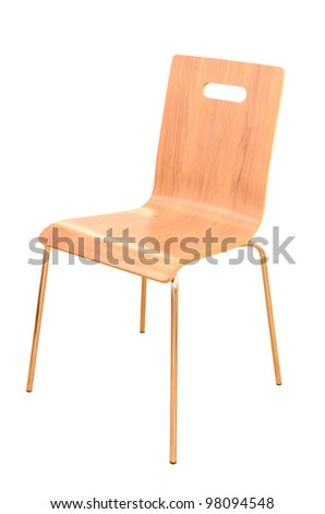 wood chair isolated - stock photo
