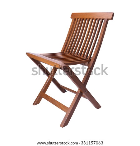 Wood chair isolated on white background