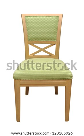 wood chair with clipping path