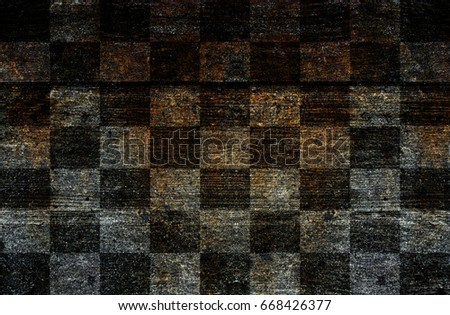 Wood Checkered flag