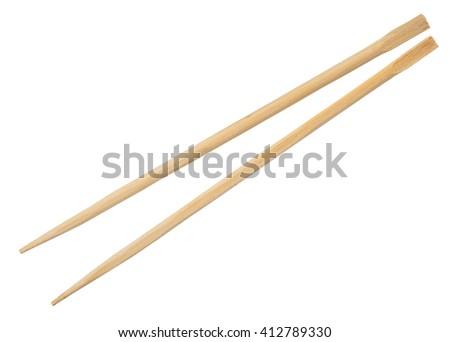 Wood Chinese chopsticks - stock photo