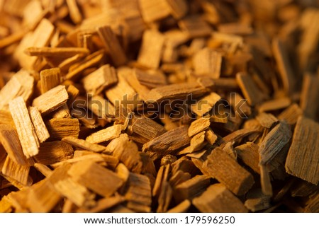 Wood chips for smoking or recycle.  - stock photo