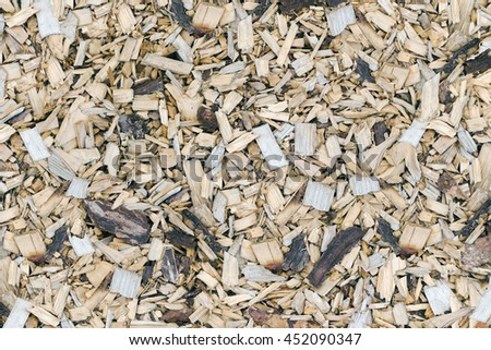 Wood chips  for smoking or recycle. Background