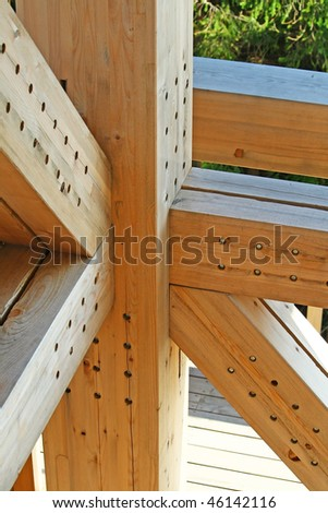 Wood construction detail