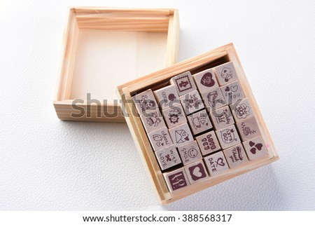 Wood Craft Stamp for scrabooking