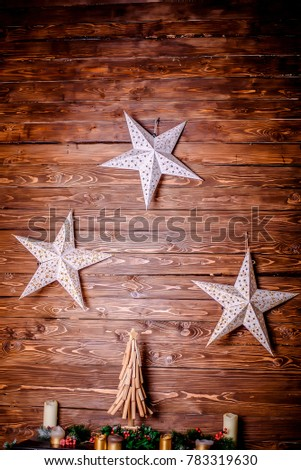 wood decorative stars
