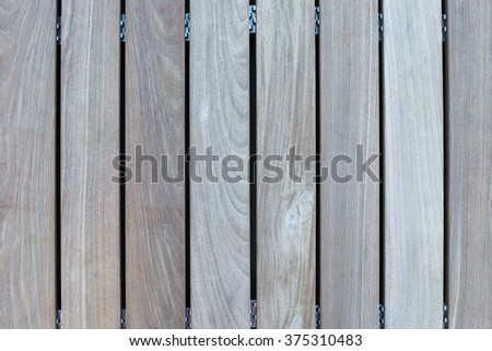 Wood floor outdoor