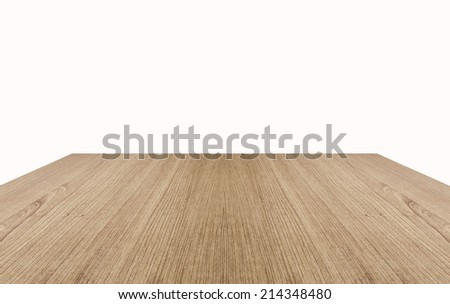 Wood floor texture and background isolated on white - stock photo