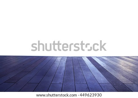 Wood floor texture in light color tone isolated on white background. nature good Perspective warm wooden floor texture. Empty room with wall and wooden floor. Art Wood Design Element Painted 7 - stock photo