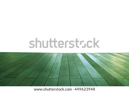 Wood floor texture in light color tone isolated on white background. nature good Perspective warm wooden floor texture. Empty room with wall and wooden floor. Art Wood Design Element Painted 2 - stock photo