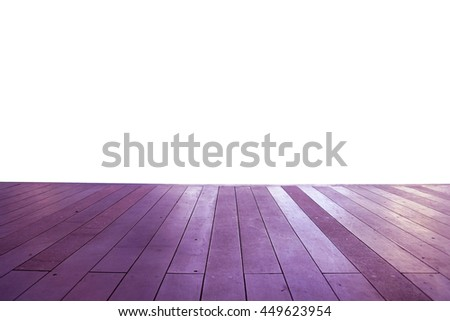 Wood floor texture in light color tone isolated on white background. nature good Perspective warm wooden floor texture. Empty room with wall and wooden floor. Art Wood Design Element Painted 1 - stock photo