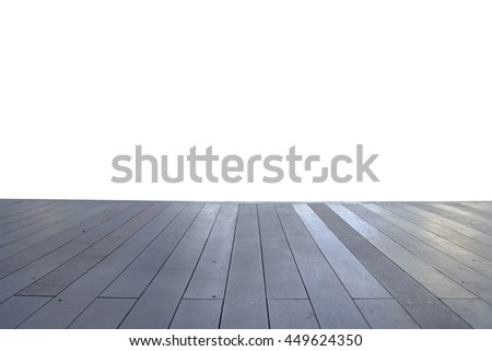 Wood floor texture in light color tone isolated on white background. nature good Perspective warm wooden floor texture. Empty room with wall and wooden floor. Art Wood Design Element Painted 16 - stock photo