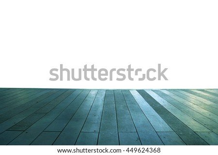 Wood floor texture in light color tone isolated on white background. nature good Perspective warm wooden floor texture. Empty room with wall and wooden floor. Art Wood Design Element Painted 11 - stock photo