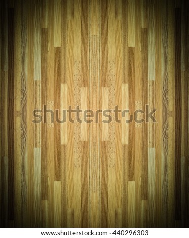 wood floor The parquet wood Hardwood maple basketball court floor viewed from above for design texture pattern and background.