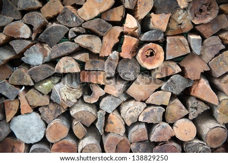 wood for oven/wood for pizza oven - stock photo