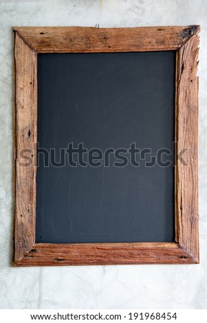 Wood frame on  wall - stock photo
