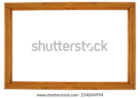 wood frame on white background. - stock photo