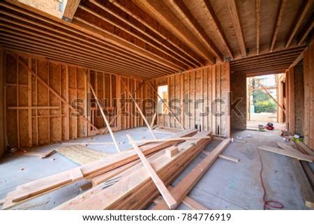 Wood Framing Interior Work Progress Wood Stock Photo (Edit Now ...