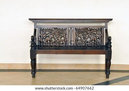 Wood furniture - stock photo
