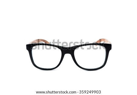 wood glasses on isolated background