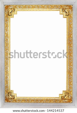 Wood Gold carving frame thailand