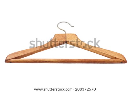 Wood hanger on the background