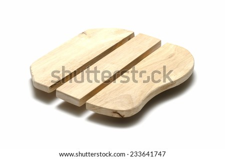 wood hot plate isolated on white backgronund