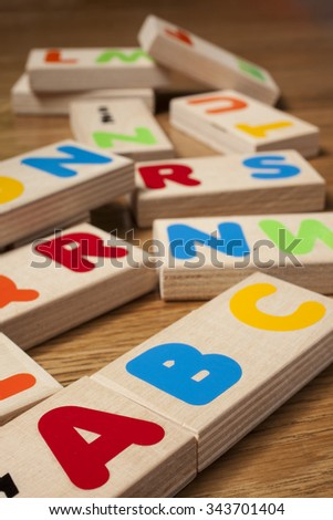 wood letters - stock photo