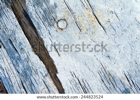 Wood material background for Vintage wallpaper - Surface of painted shabby wood -  - stock photo