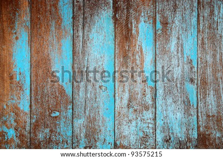 Wood material  blue background for Vintage wallpaper - stock photo