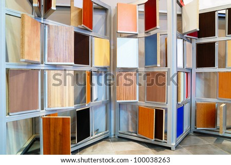 Wood Material Samples In Home Decoration Store