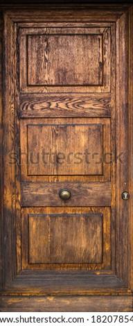 wood old door - stock photo