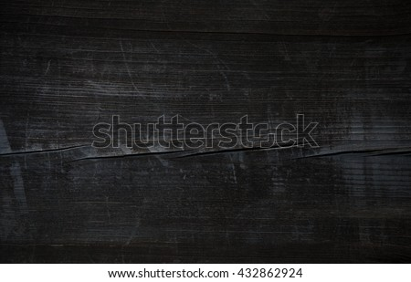 Wood.Old wood. Vintage wood. Old Black wooden table. Pirate black wooden table. Grunge black wood. Black Wood. Wood texture. Wood background. Wood table. Black wooden texture. Black wood background. - stock photo