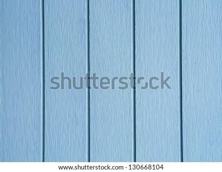 wood painted blue closeup - stock photo