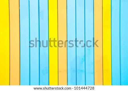 wood painted closeup,fisherman's boat house door detail - stock photo