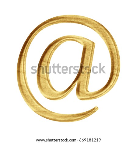 Wood Painted Wooden Sign Email Address Stock Illustration 669181219