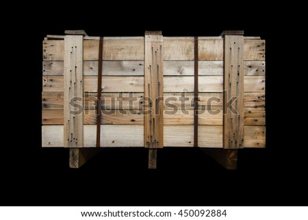 Wood Pallets - crates for transportation  -    isolated - black background   - stock photo