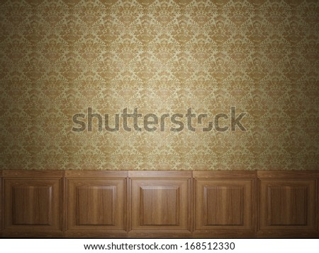 wood panel wallpaper - stock photo