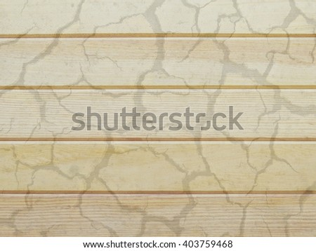 Wood panel with overlapping soil dry a soft background and texture - stock photo