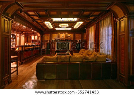 Wood Paneled Living Room. Part 78