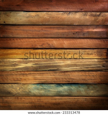 Wood paneling made from antique or vintage tree wood pieces.  - stock photo
