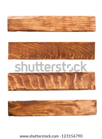 Wood panels isolated on white - stock photo